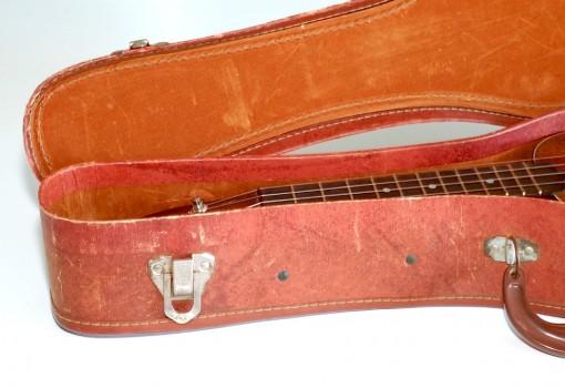 Gretsch Solid Mahogany Soprano Ukulele Case Open