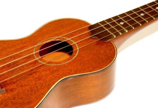 Gretsch Solid Mahogany Soprano Ukulele Soundhole