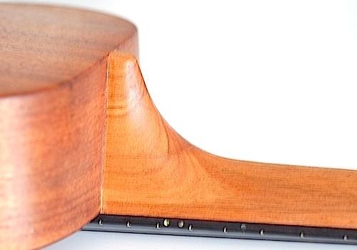 Kanile'a K1 Solid Koa Tenor Ukulele 2009 Neck