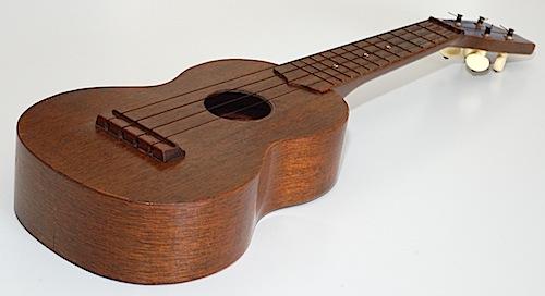 Favilla Model U-2 Mahogany (1930s) Soprano Ukulele Top