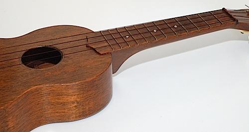 Favilla Model U-2 Mahogany (1930s) Soprano Ukulele Fretboard