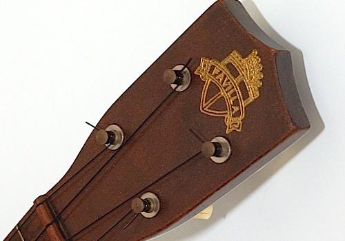 Favilla Model U-2 Mahogany (1930s) Soprano Ukulele Headstock