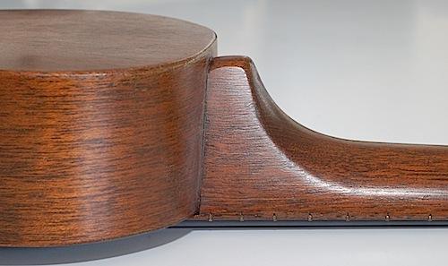 Favilla Model U-2 Mahogany (1930s) Soprano Ukulele Side
