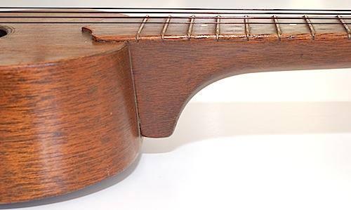 Favilla Model U-2 Mahogany (1930s) Soprano Ukulele Neck