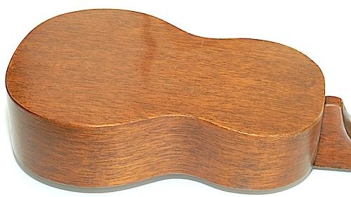 Favilla Model U-2 Mahogany (1930s) Soprano Ukulele Back