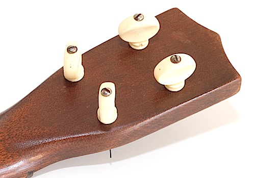 Favilla Model U-2 Mahogany (1930s) Soprano Ukulele Tuning Pegs