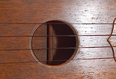 Favilla Model U-2 Mahogany (1930s) Soprano Ukulele Soundhole